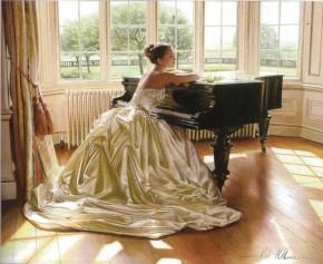 Beautiful Woman at Piano
